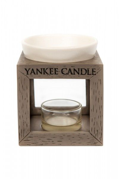 yankee candle wood ceramic duftlampe grau duftlampen. Black Bedroom Furniture Sets. Home Design Ideas