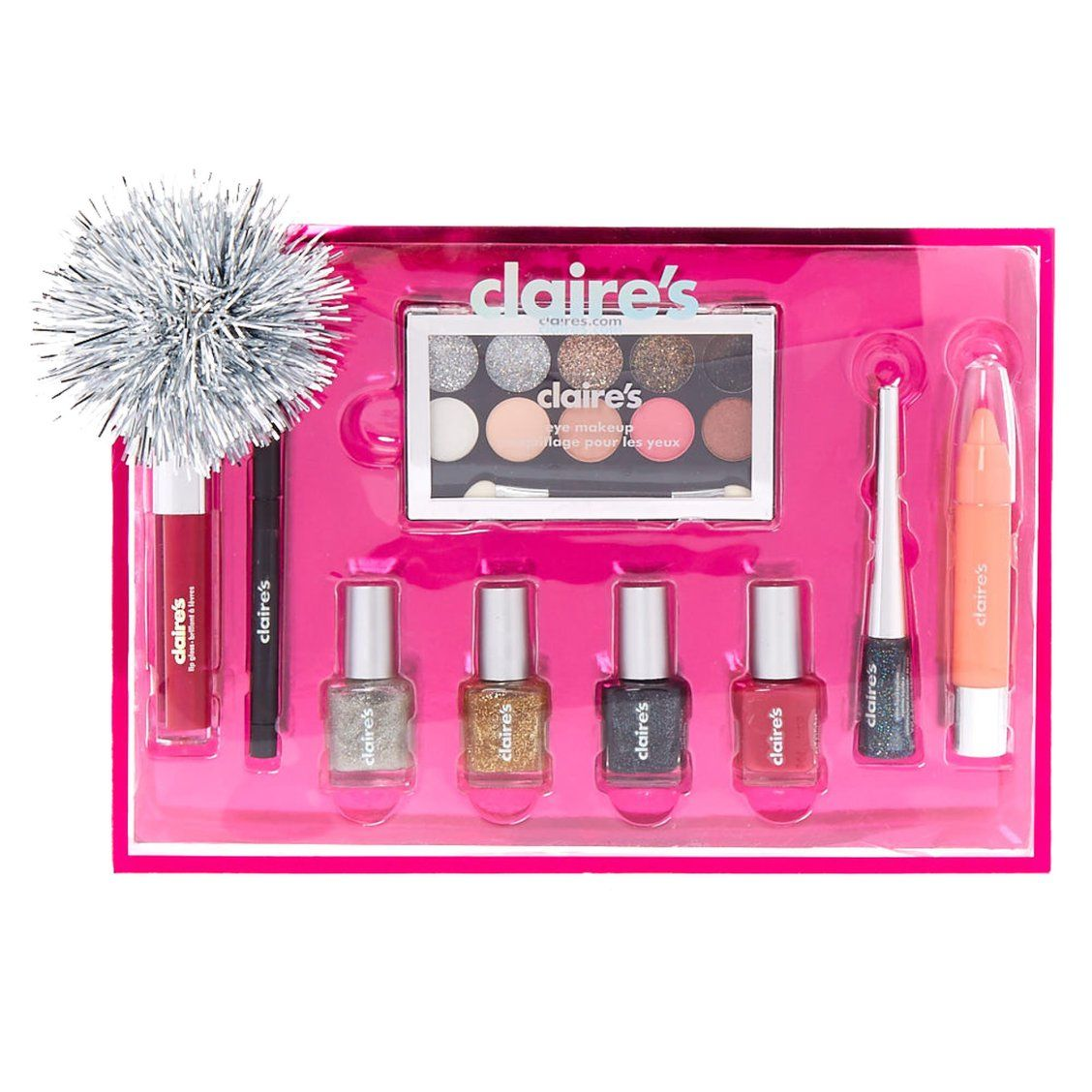 Christmas 9 Piece Makeup Gift Set Every Girl Loves Makeup So This Set Makes The Perfect Gift It Comes W Makeup Gift Sets How To Do Eyeliner Claire S Makeup