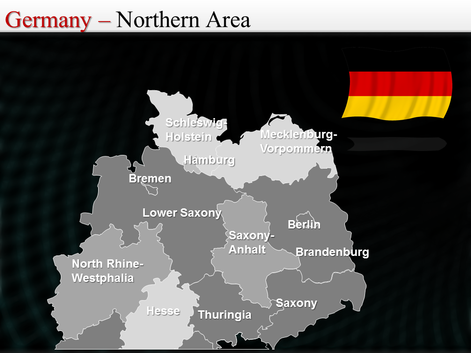 Map of Germany Northern Area Map of