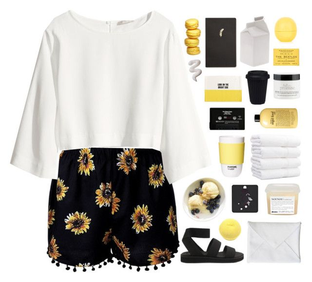 """""""NUNCHI"""" by cleobluesky ❤ liked on Polyvore featuring H&M, philosophy, ROOM COPENHAGEN, Davines, Cheap Monday, CASSETTE, Kate Spade, Forever 21, Seletti and Topshop"""