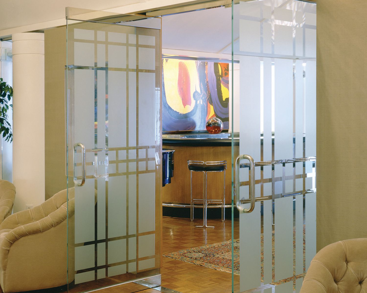 Frosted Window Film Used As A Design Frosted Window Film