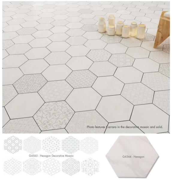 Lun Carrara Hexagon 9 6 X11 European Home Decor Decor Hexagon
