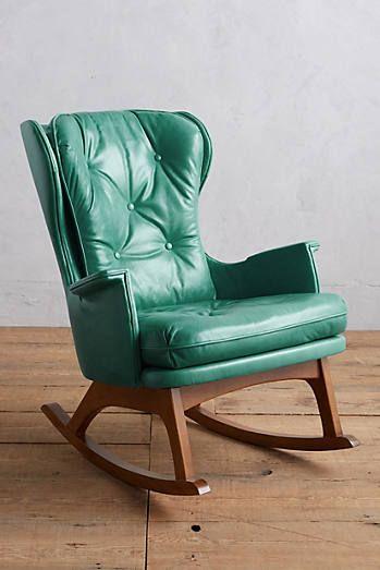 By Fabric Cadeira De Balanço, Leather Baby Rocking Chair