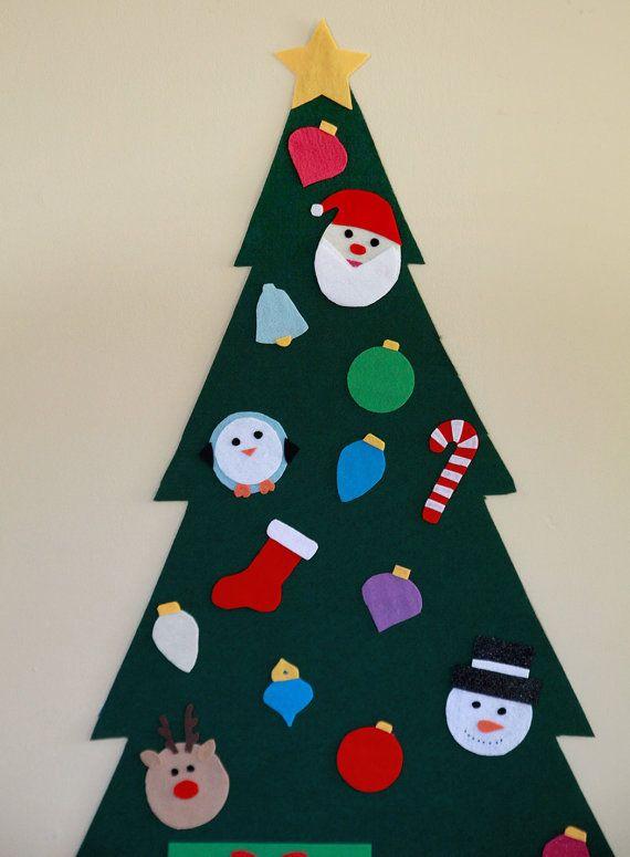 PREORDER Felt Christmas Tree Felt Wall Tree by ForYourMunchkin