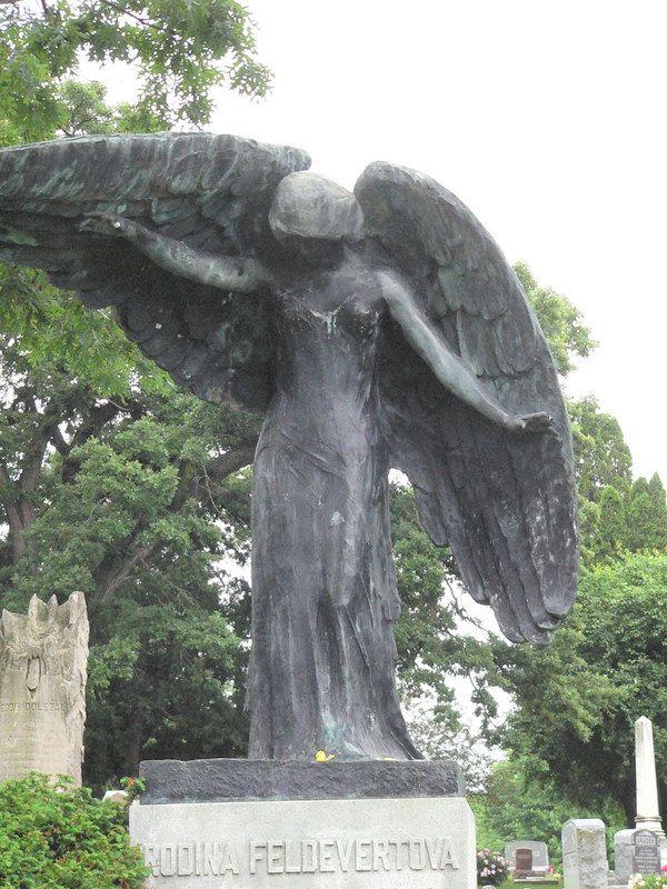 The Black Angel Oakland Cemetary Iowa City Ia Photo Ksl
