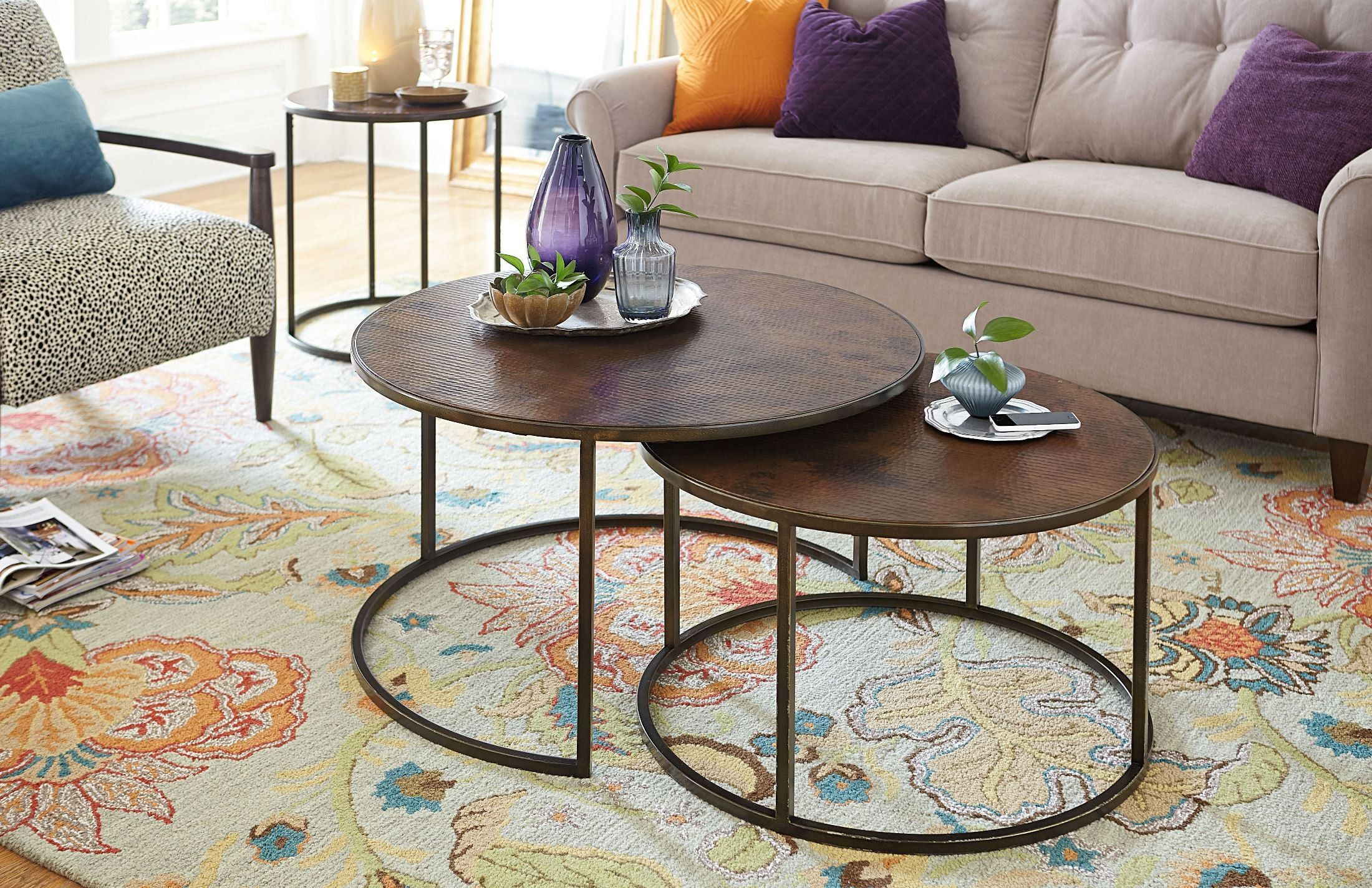 Sanford Round Occasional Table Set In 2021 Nesting Coffee Tables Coffee Table Setting Coffee Table Design [ 1424 x 2200 Pixel ]