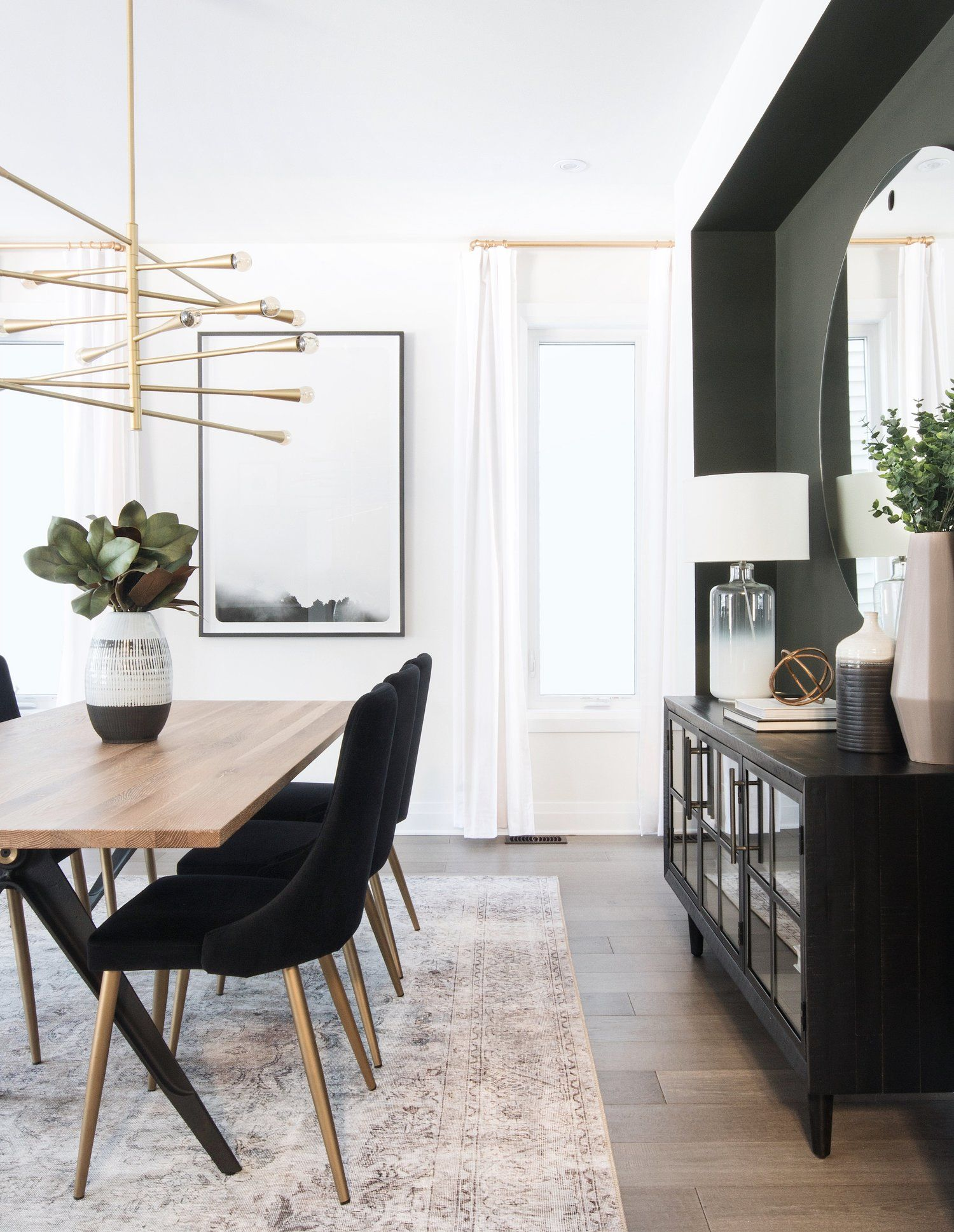 Modern And Inviting Formal Dining Space By Ottawa Interior Design