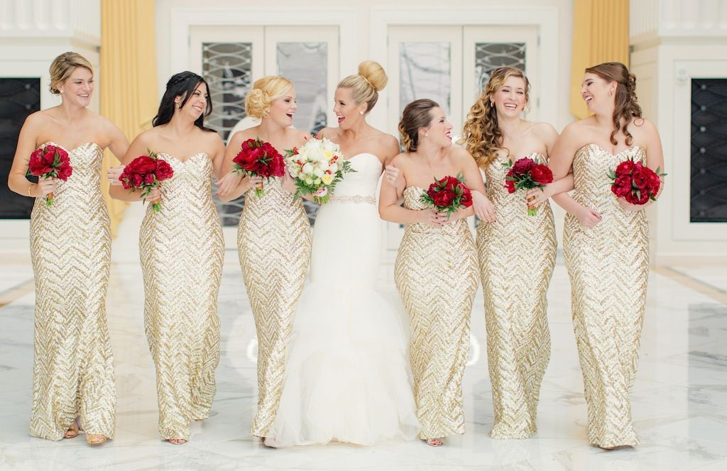 23418d4be879 Alvina Valenta wedding dress Style 9307/ A Very Festive Red and Gold  Christmas Wedding at Gaylord National Resort | Winter Wedding |  Washingtonian Bride & ...