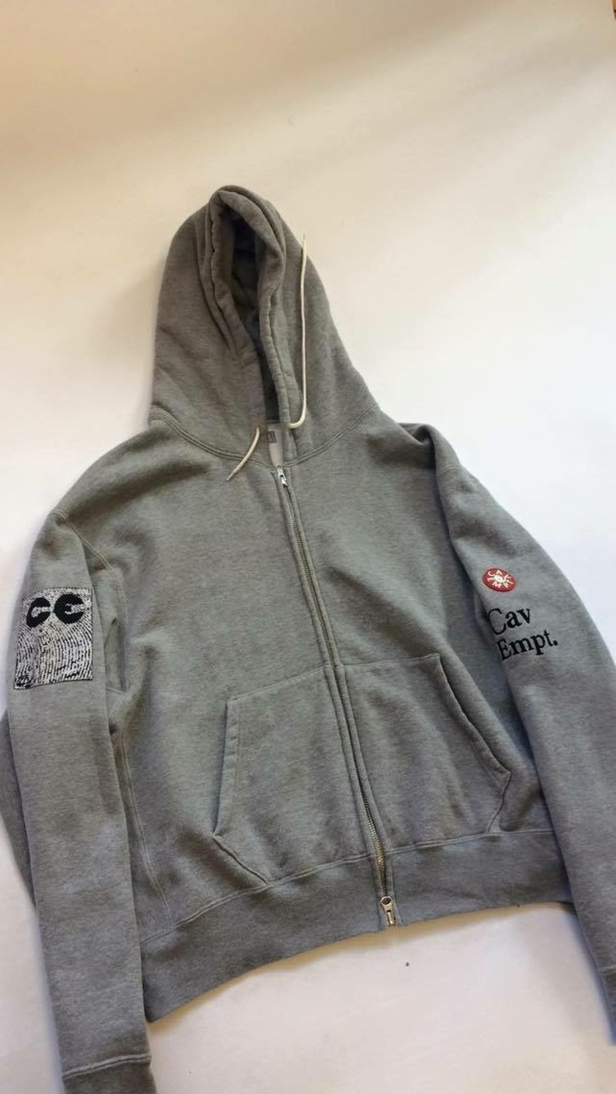 d3068668a Cav Empt Cav Empt Hoodie Light Grey Medium Size M  225 - Grailed ...