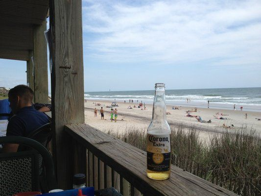Buddy's Crab House and Oyster Bar Surf City NC. Perfect sitting spot for me!!!