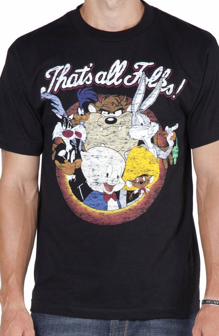 d98bdc0de Thats All Folks Looney Tunes Shirt | Virtual Closet / Clothes ...