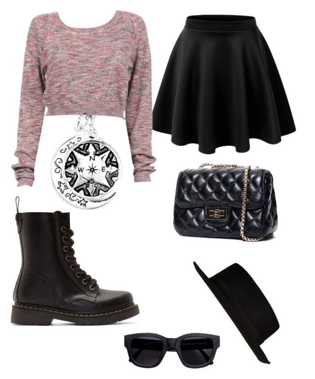 Girly casual by jadiegirl02 on Polyvore featuring polyvore, fashion, style, Dr. Martens, River Island and Acne Studios