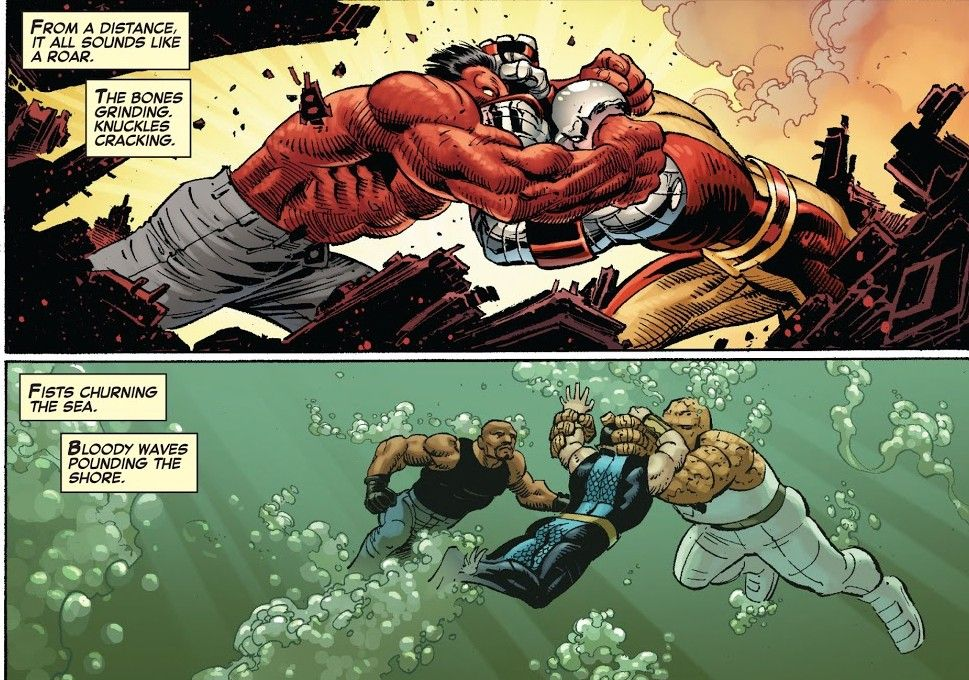 Cyclops Vs Red Hulk Namor Vs Luke Cage Thing Avengers Vs Xmen 2 Make A Comic Book Red Hulk John Romita Jr