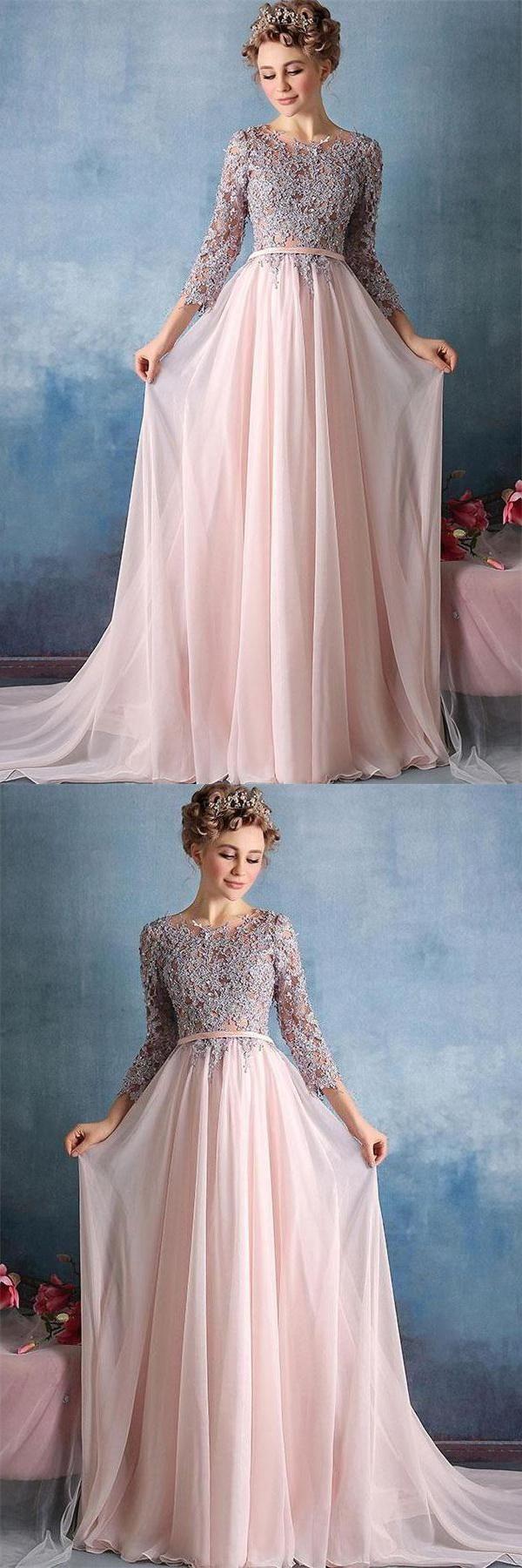 Pink prom dresses prom dresses lace prom dresses for cheap long