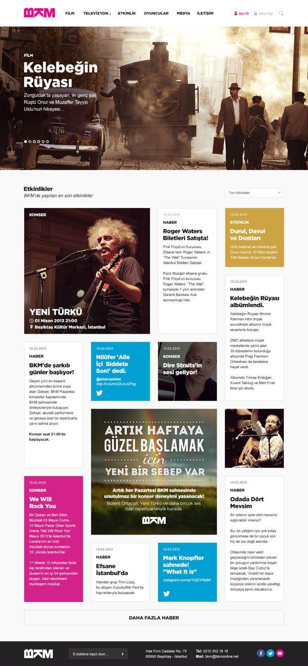 Bkm Online Redesign On Behance News Web Design Web Development Design Web Layout Design