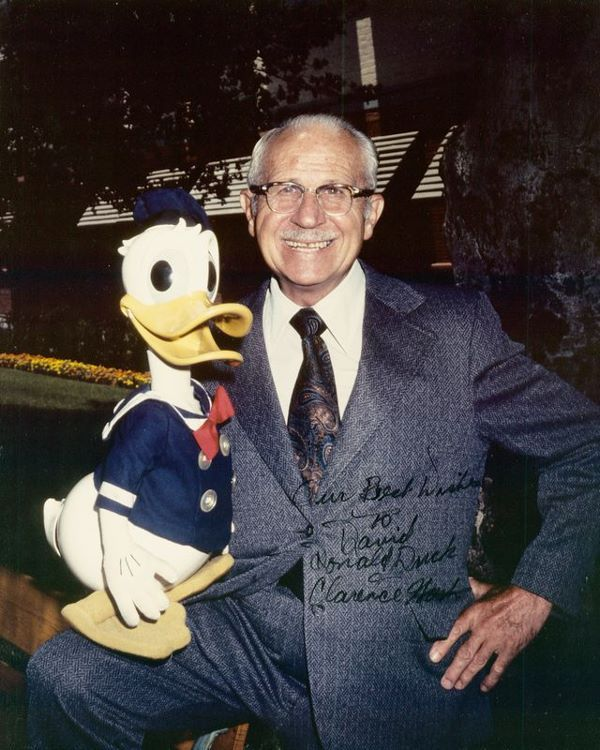Clarence Nash The Voice Of Donand Duck Walt Disney Studio And