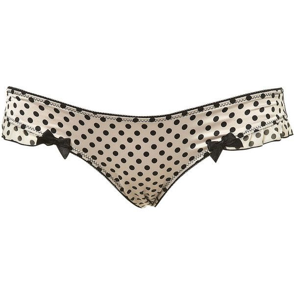 6e96468c83b8 Satin Spotty Mini ($12) ❤ liked on Polyvore featuring intimates, panties,  underwear, lingerie, undies, women, polka dot lingerie, polka dot panties,  satin ...