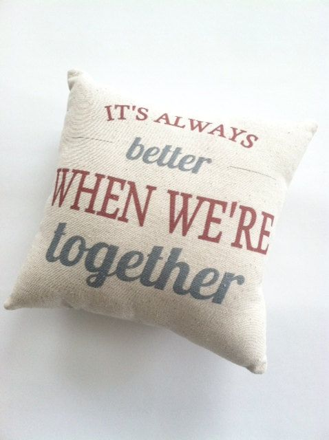It's Always Better When We're Together Pillow by cayteelynn, $14.95