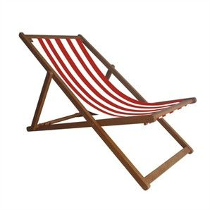 Mimosa Red Stripe Deck Chair Bunnings Warehouse