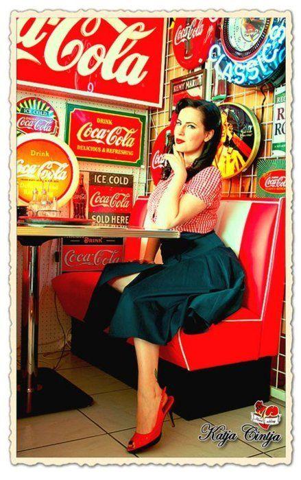beautiful, coca cola, coca-cola, coke, girl   *Cool cartoons