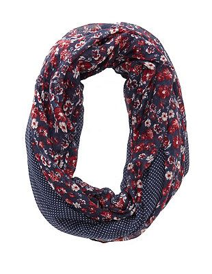 Mixed Pattern Infinity Scarf: Charlotte Russe