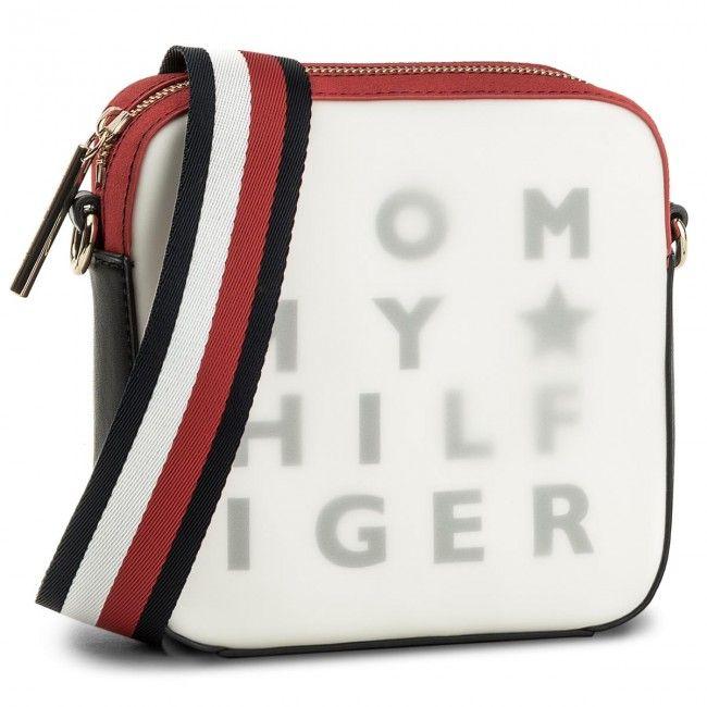 7a20b33d40db3 Torebka TOMMY HILFIGER - Logo Story Crossover Transparent AW0AW05253 ...