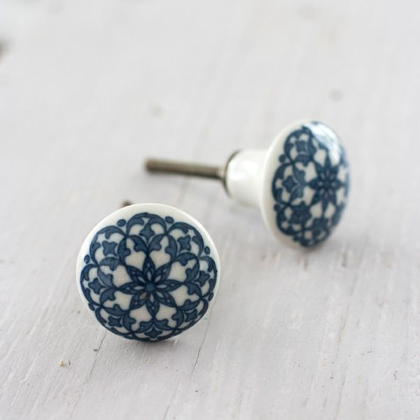 These Small Ceramic Drawer Knobs Are Moroccan Influenced Theyre Made From Patterned So