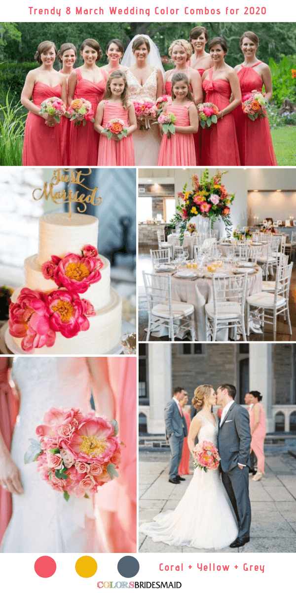 Trendy 8 March Wedding Color Combos for 2020