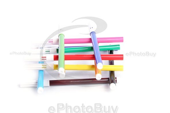 Colorful sketch pen arranged like building block