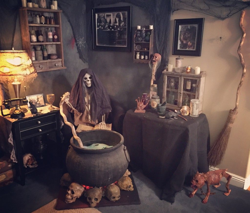 The Witch Themed Party Halloween Haunted House Decorations Scary Halloween Halloween Haunt
