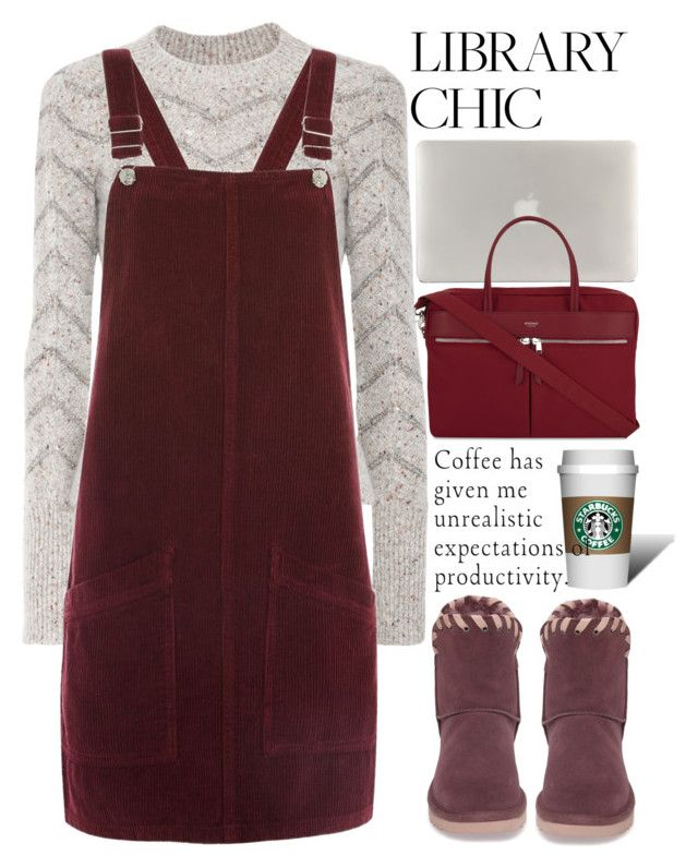 """""""Work Hard, Play Hard: Finals Season"""" by aleks-g ❤ liked on Polyvore featuring Isabel Marant, Topshop, UGG, Tucano, Knomo, coffee, burgundy, study and librarychic"""