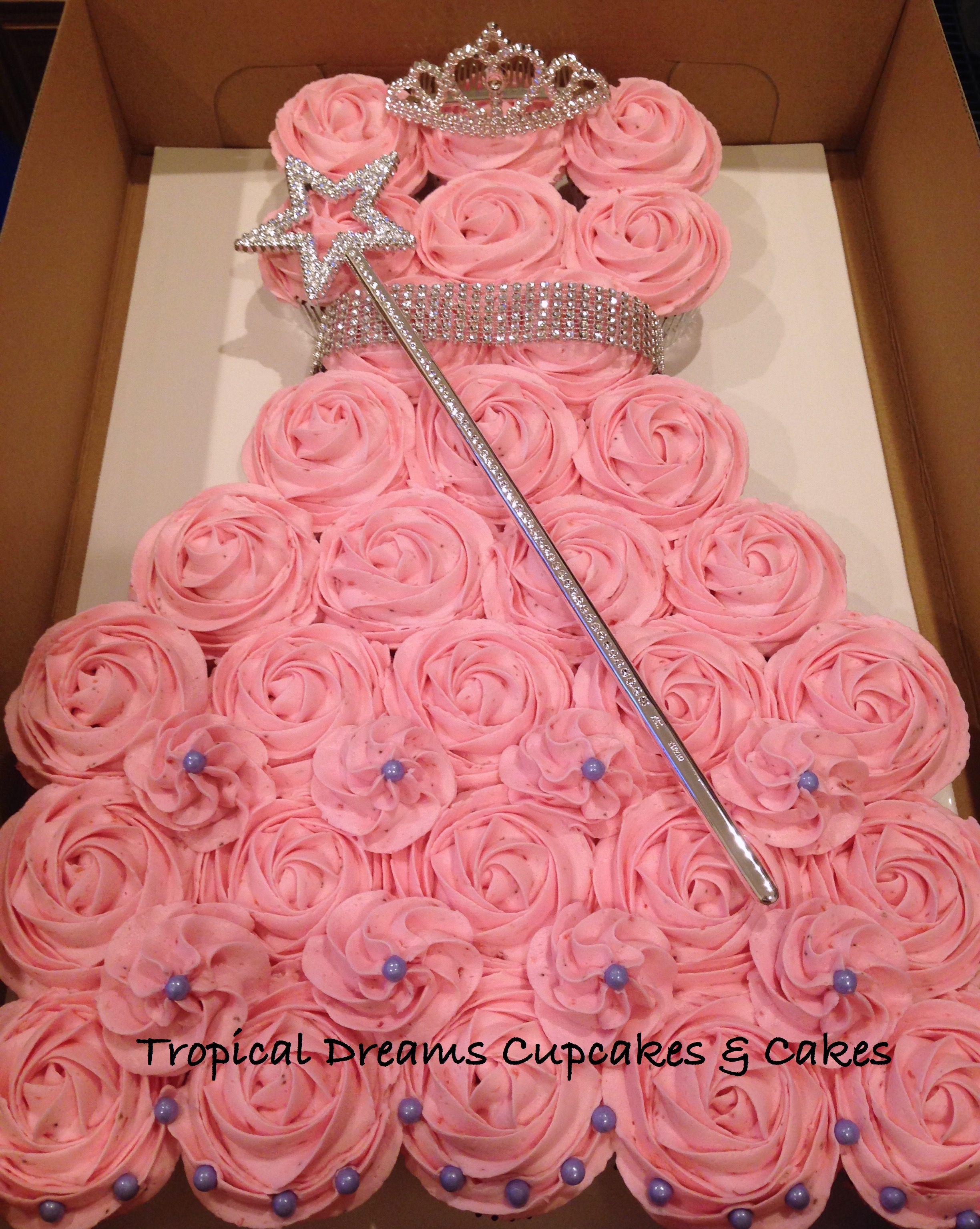 Princess Pull Apart Cake For Jade Cupcake Dress Cupcakes Birthday
