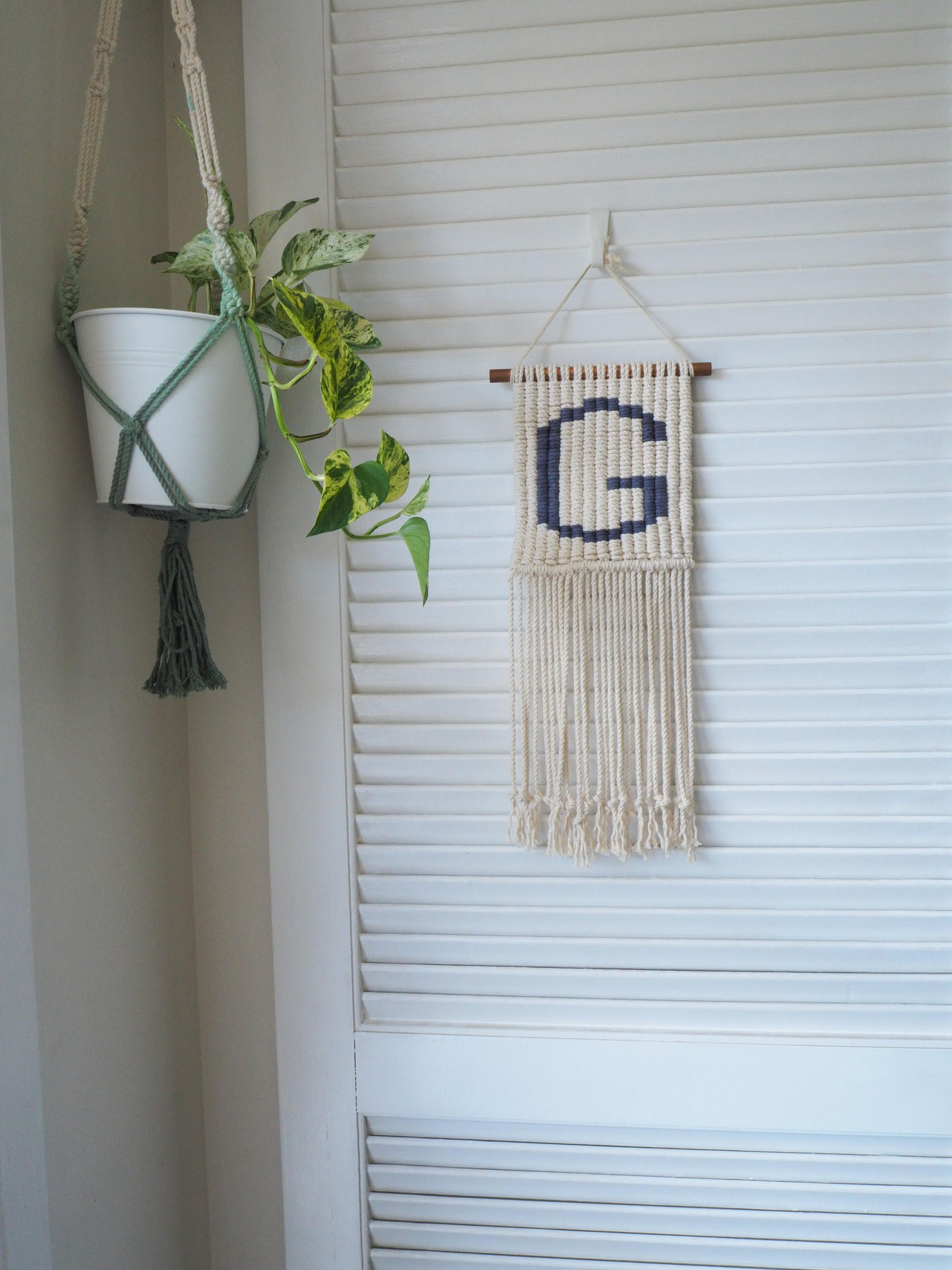 Letter Macrame Wall Hanging Customized Nursery Kids Decor By Lbartanddesign On Etsy Macrame Wall Hanging Wall Hanging Custom Nursery