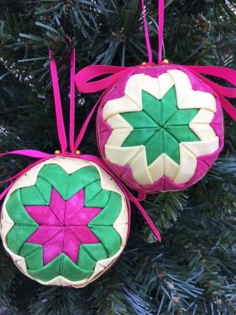 No Sew Ornament, Kits and Patterns. Folded Fabric Ornaments ...