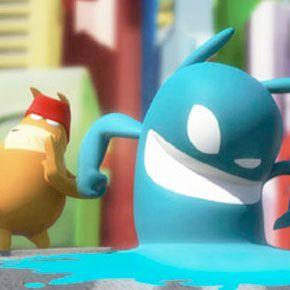 """A arte e os vídeos hilários do game """"deBlob2"""""""