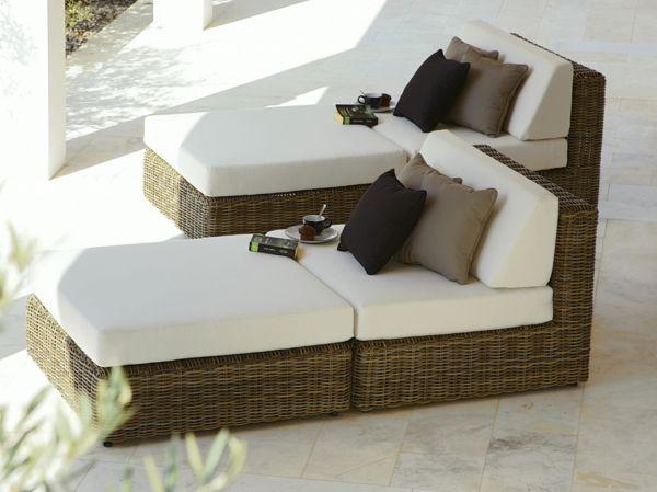 relaxliege garten modern, 27 coole ideen für sofa und relax liege im garten | garten, Design ideen