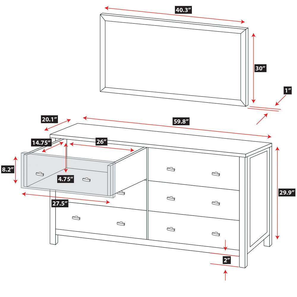 Lowboy Dresser Dimensions Google Search