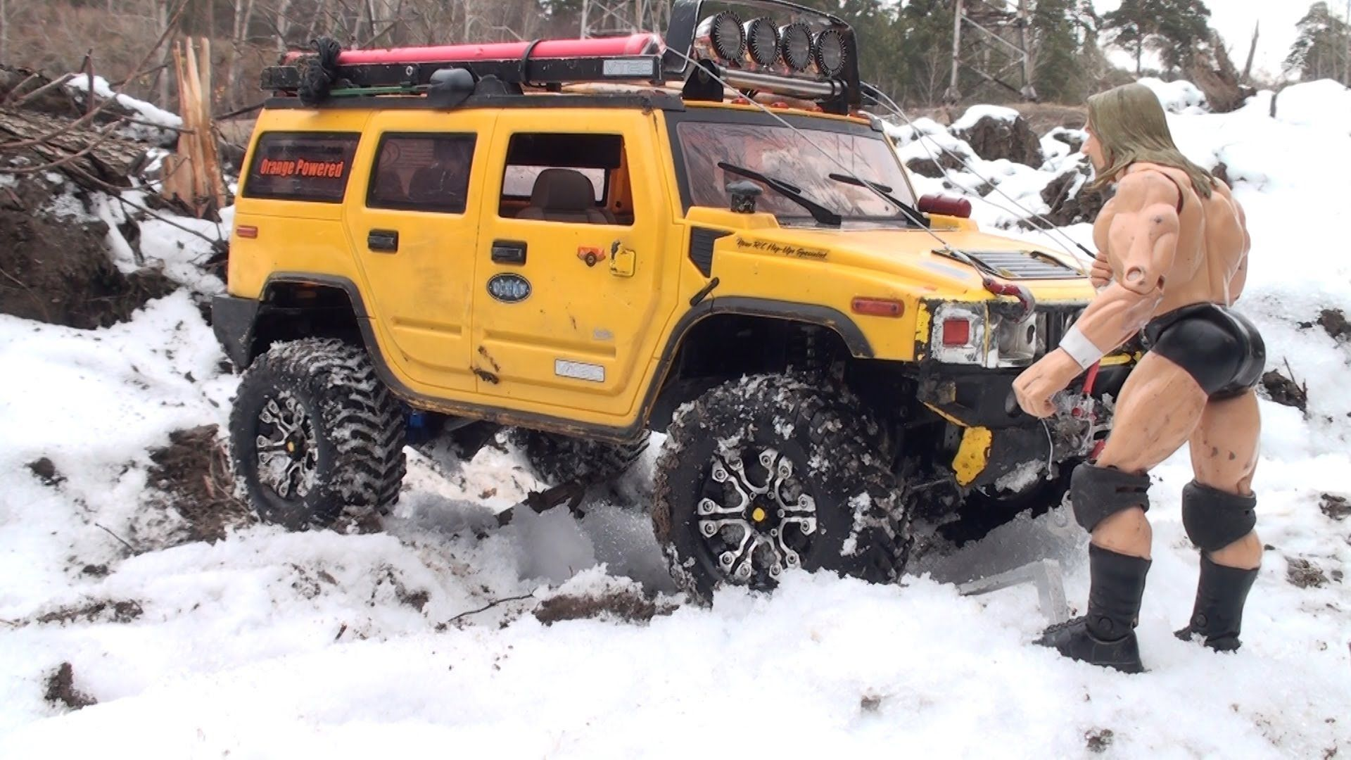 Rc Off Road Hummer H2 Vs Jeep Wrangler Rubicon Vs Toyota Hilux
