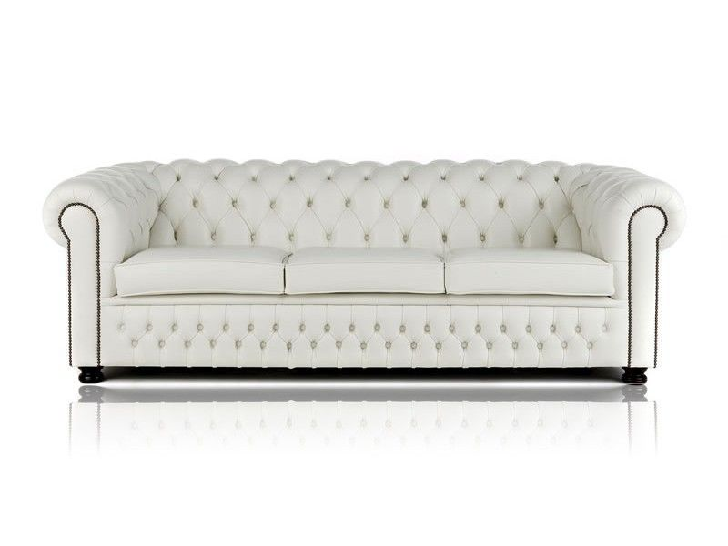 White Leather Chesterfield Sofa Leather Chesterfield Sofa White