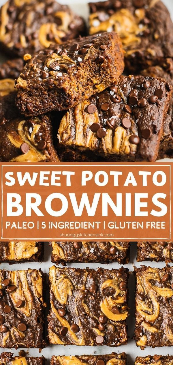 Paleo Sweet Potato Brownie Video Shuangy S Kitchen Sink Recipe Paleo Sweet Potato Brownies Sweet Potato Brownies Paleo Sweet Potato