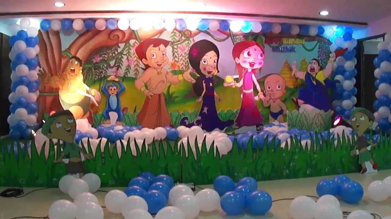 Chhota Bheem Theme 2 Stars Most Beautiful Birthday Party Themes