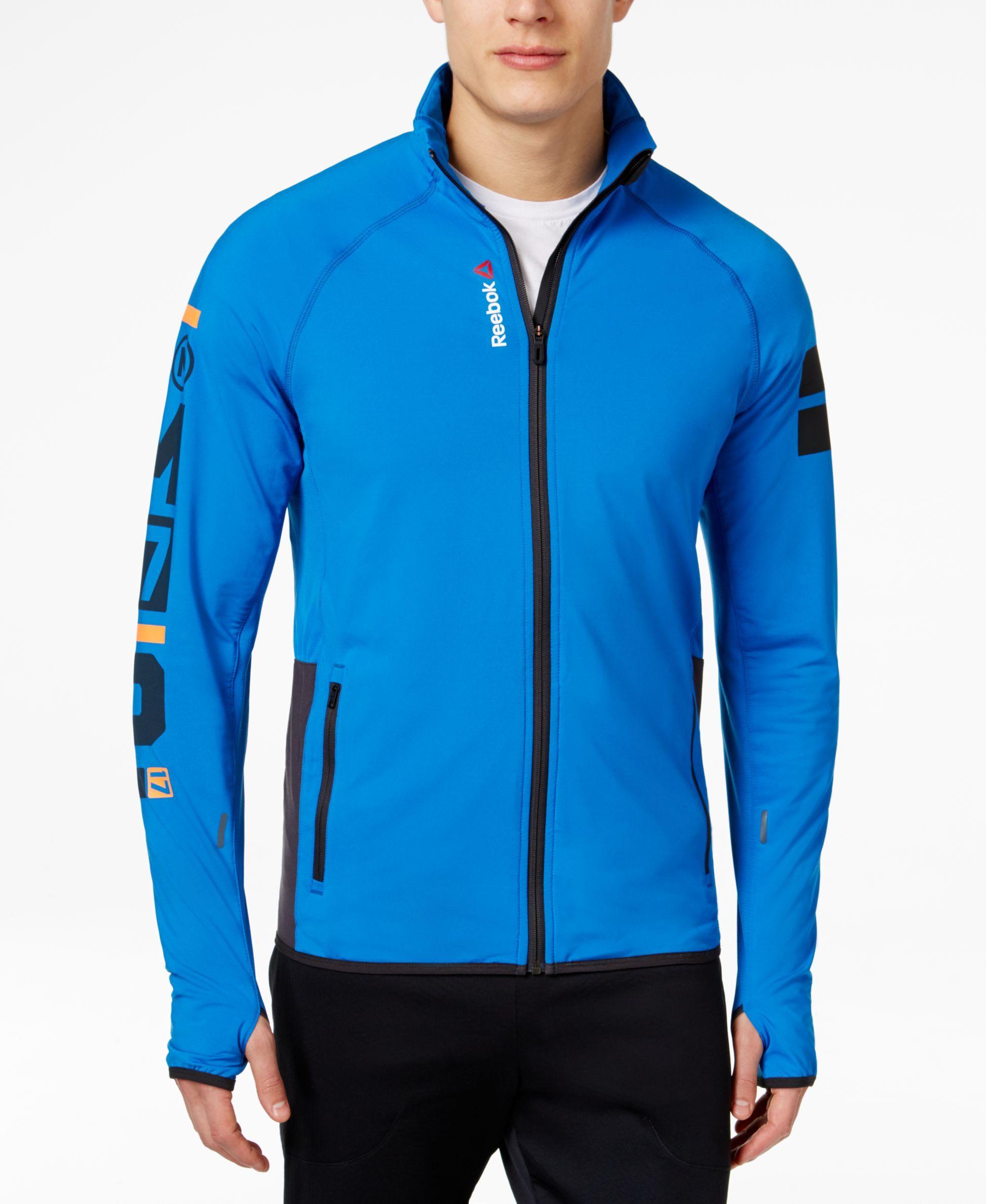 Reebok Men S Track Jacket Hoodies Sweatshirts Men Macy S Mens Outdoor Jackets Hoodies Men Track Suit Men [ 2378 x 1947 Pixel ]