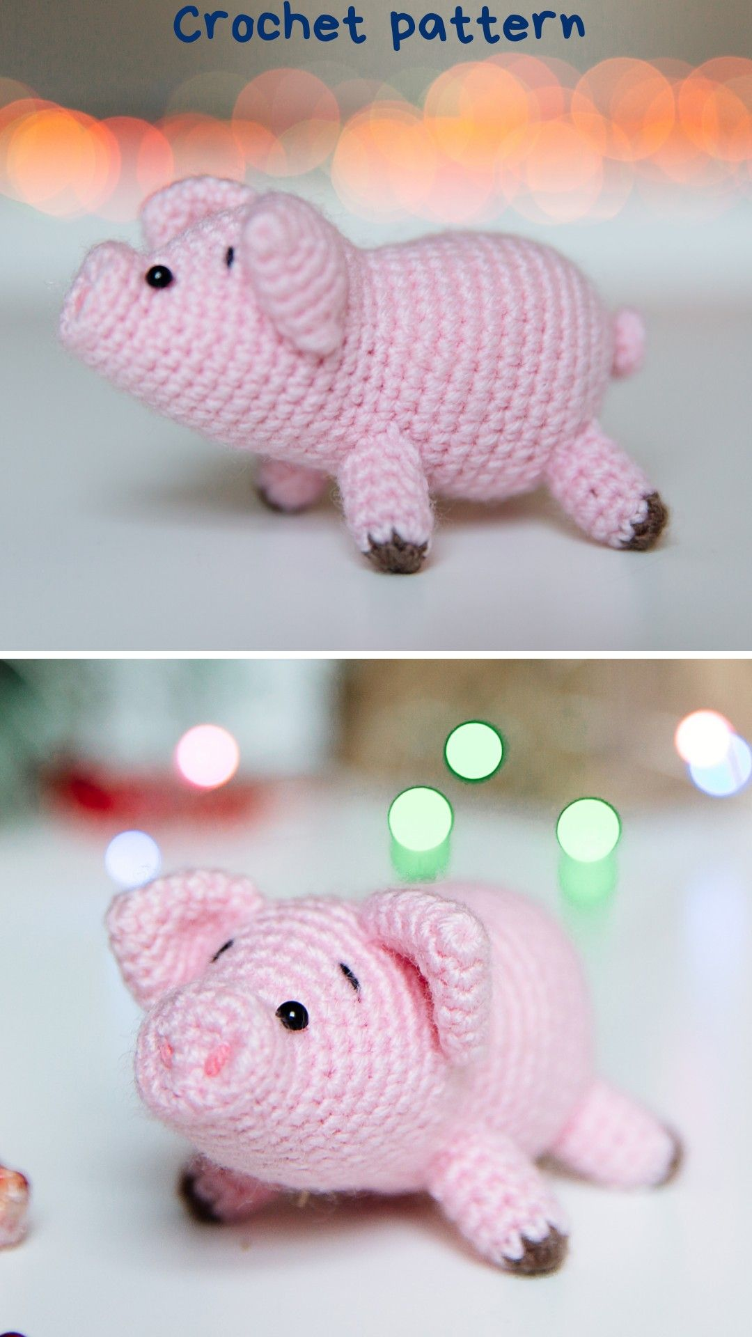 Crochet Piggy Stuffed Toy Hand-knitted Pig Amigurumi Pig Toy Wool ... | 1920x1080