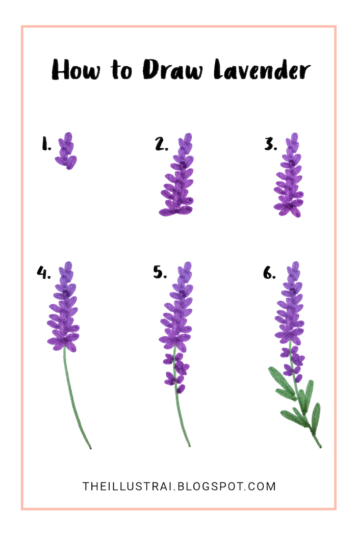 How To Draw Lavender Rose Drawing Step By Step White Background In 2020 Simple Flower Drawing Flower Drawing Easy Flower Drawings