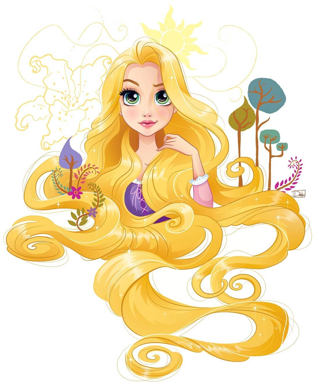 """Darko Dordevic on Instagram: """"Happy anniversary 24th November 2010 #Tangled #rapunzel ☀️👑💖 One of my official artworks I did for @thedisneyprincesses ❤👑❤@disney…"""""""