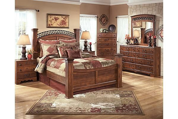 Timberline poster bedroom set -Ashley Furniture Bedroom furniture - Poster Bedroom Sets