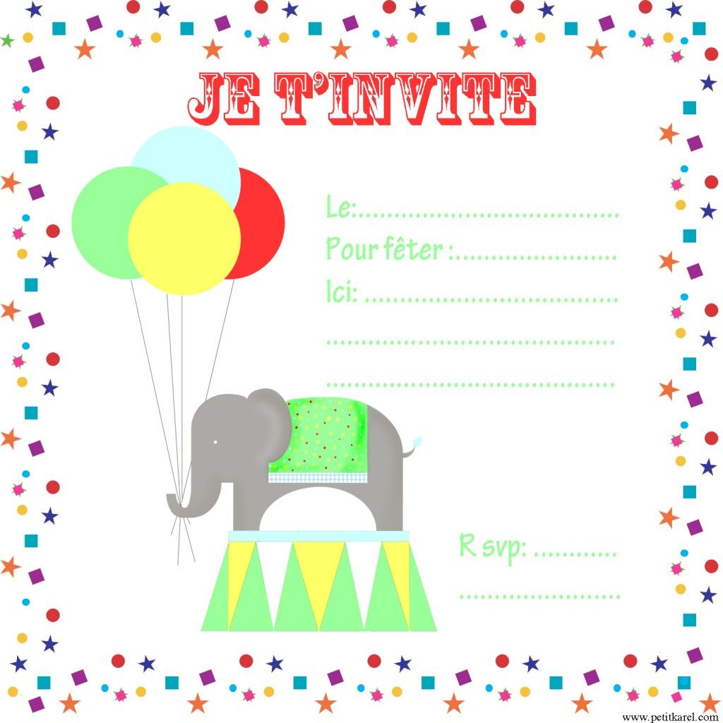 invitation circus birthday free printables