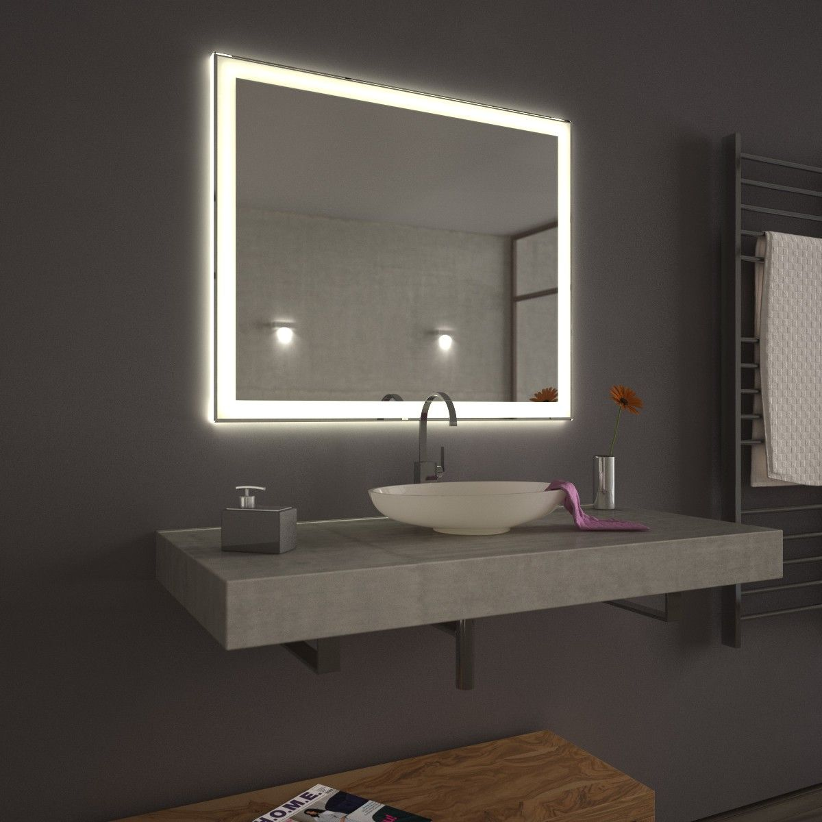 beleuchtet Velen Badspiegel beleuchtet