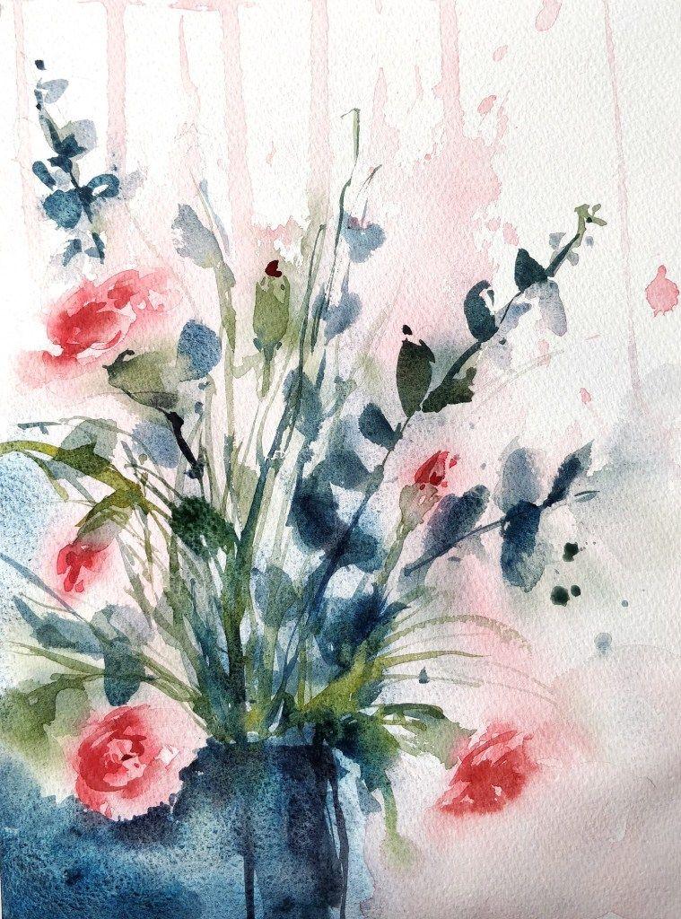 Dessin Et Peinture Video 2816 Peindre Des Oeillets En Fleurs