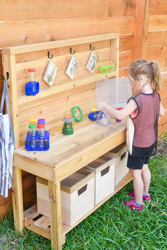 Diy Outdoor Science Discovery Center Diy Outdoor Kitchen Kids